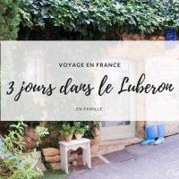 3 jours dans le Luberon