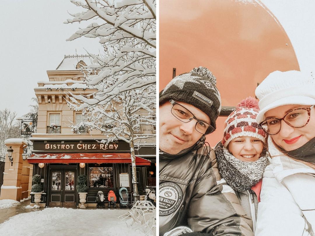Disneyland Paris sous la neige en famille