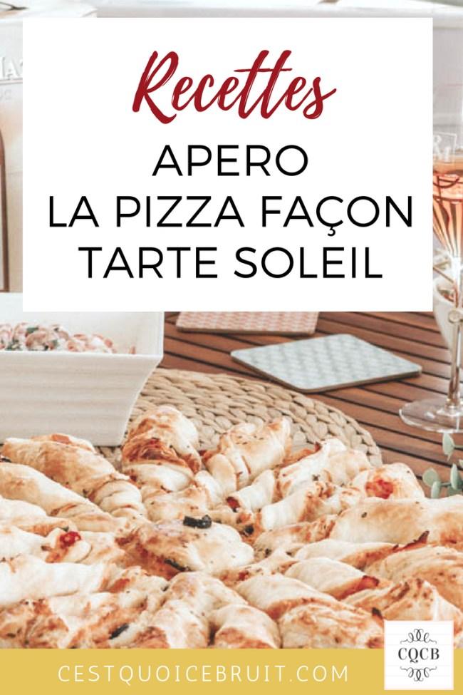 Pizza apéro façon tarte soleil pour un apéritif dînatoire réussi facilement #apero #recette #recipe #pizza #food