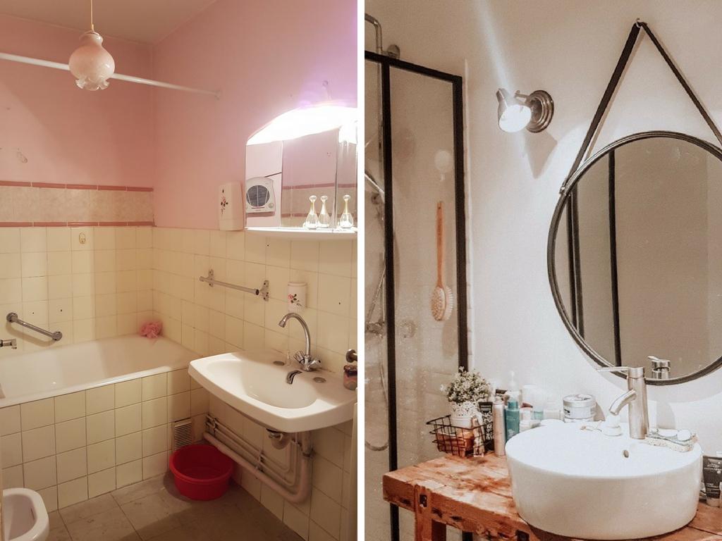Avant après rénovation et décoration salle de bain