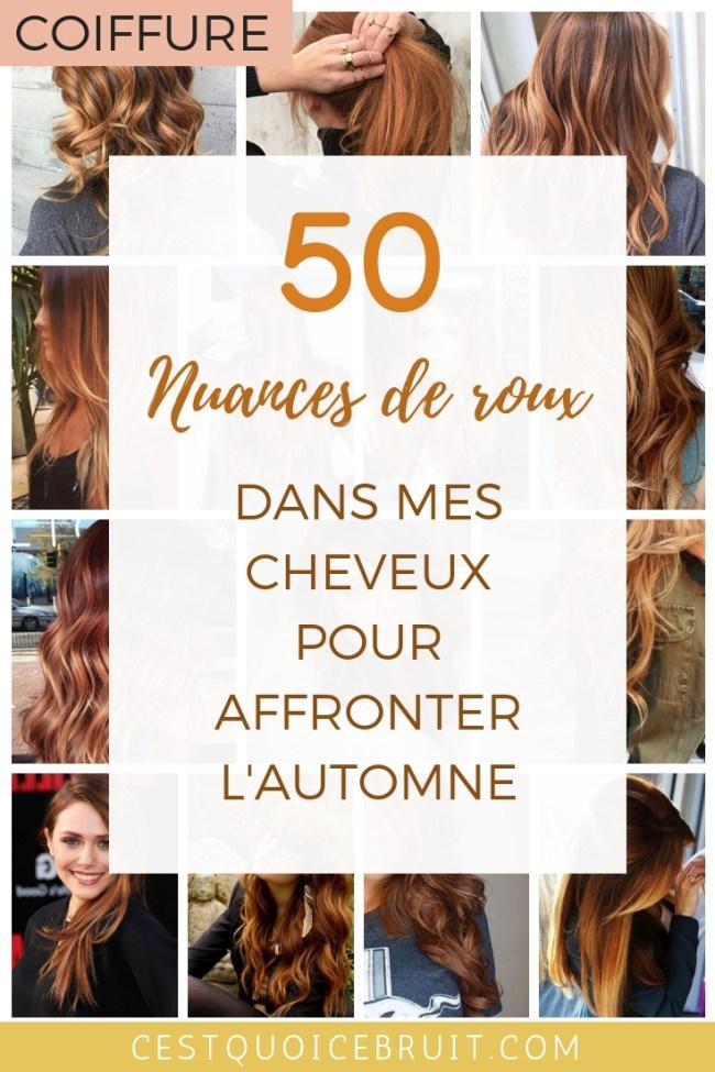 50 nuances de roux dans mes cheveux pour l'automne, coloration cuivre #coloration #cheveux #hair #roux #ombrehair #cuivré #automne