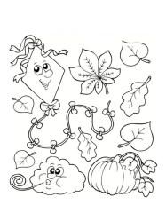 Coloriage d'automne à imprimer gratuitement #coloriage
