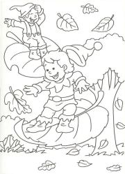 Coloriages d'automne pour enfants à imprimer gratuitement #coloriage