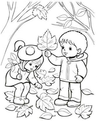 Coloriage d'automne pour les enfants à imprimer