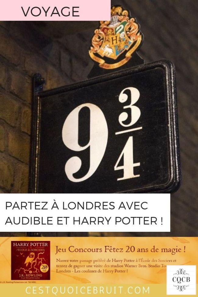 Gagnez un voyage à Londres pour visiter les studios Harry Potter #concours #londres #audible #harrypotter