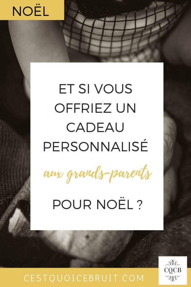 Offrir un cadeau personnalisé aux grands-parents pour Noël #cadeau #noel #famille #cadeaupersonnalisé