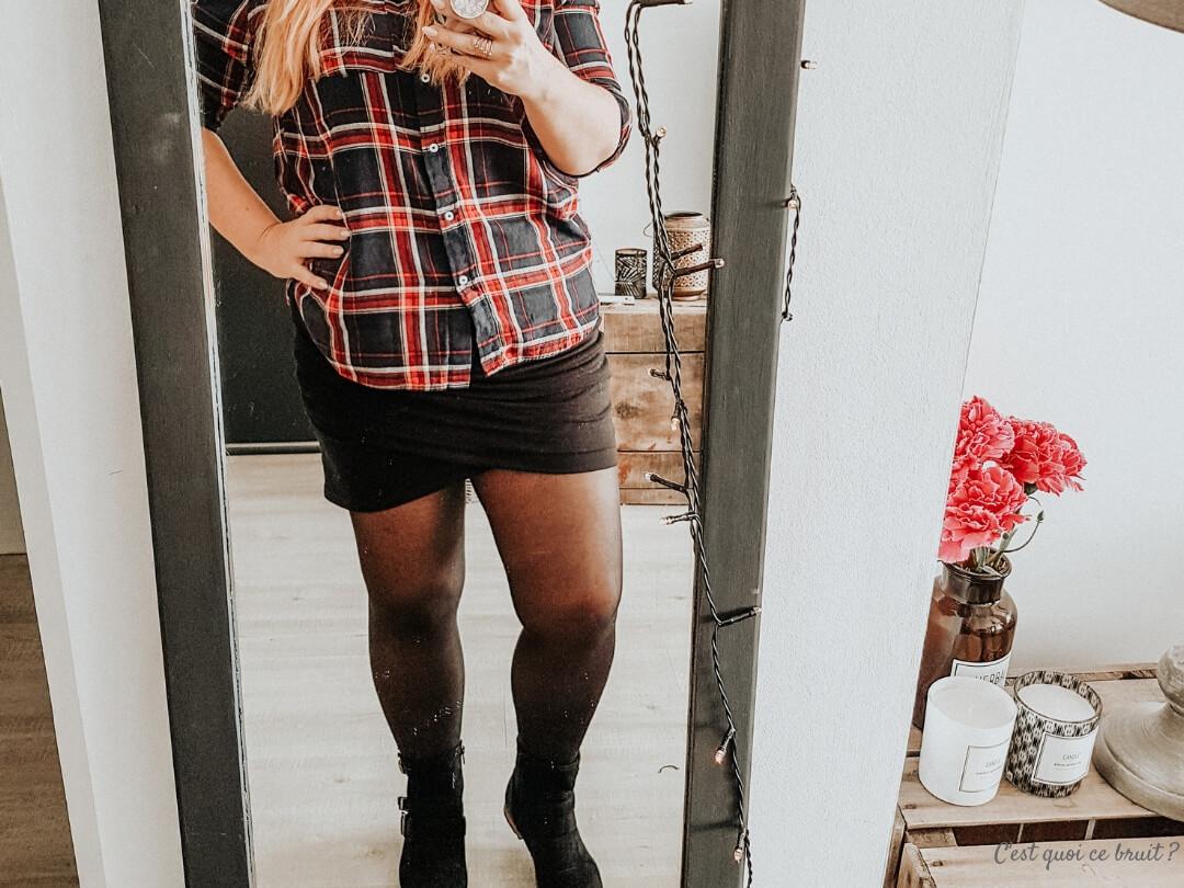 Chemise à carreaux pour look d'automne 2018