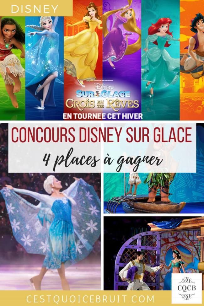 Concours Disney sur glace Crois en tes rêves #disney #disneysurglace #famille #concours