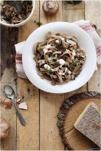Jolie recette d'automne : les tagliatelles châtaigne et champignons #recette #food #recipe #automne