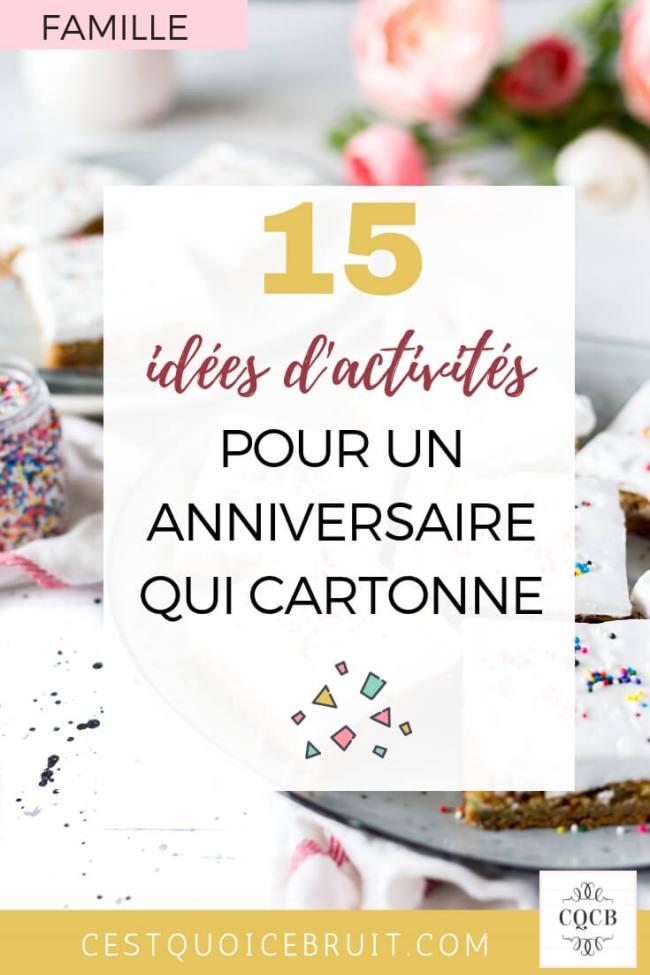 15 idées originales pour un anniversaire d'enfant qui cartonne #anniversaire #party #kids #activités #enfants #blogfamille