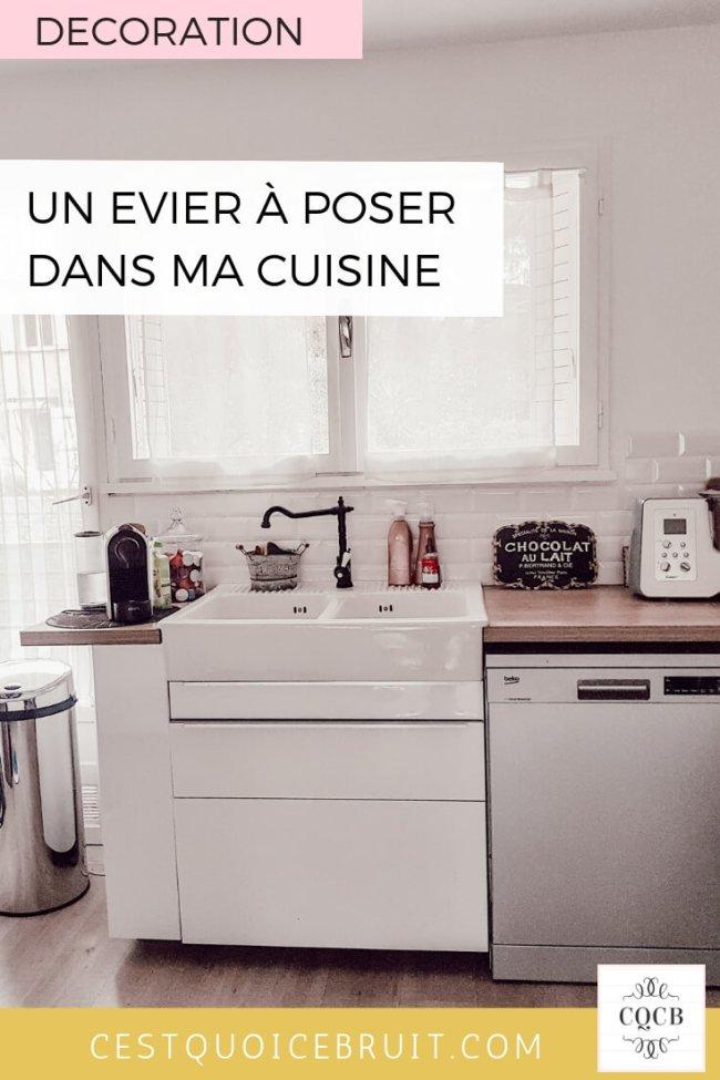 Inspiration déco : un évier à poser dans la cuisine #décoration #cuisine #deco #scandinave #évier #cuisinescandinave #decoaddict