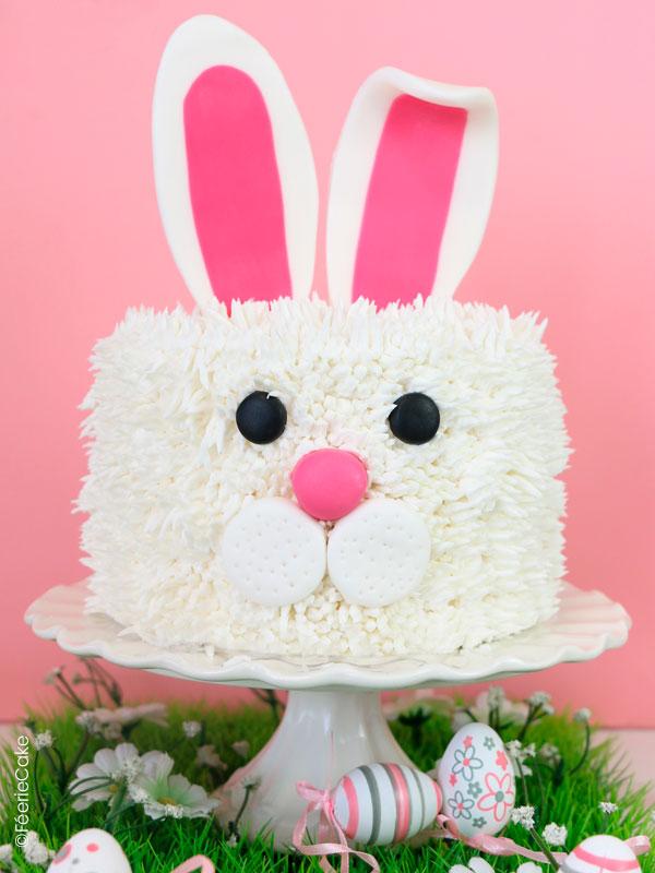 Recettes rigolotes de Pâques : gâteau lapin en pâte à sucre #gateau #recette #paques #recipe #lapin #lapindepaques #easter