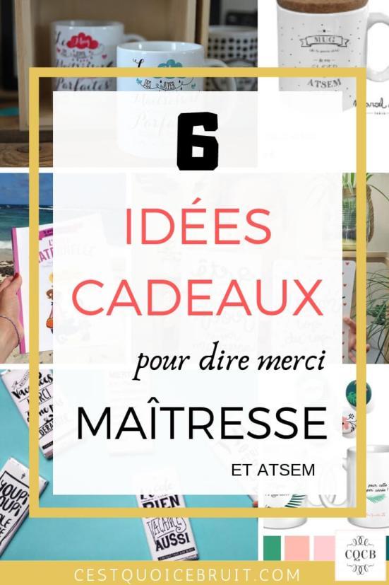6 idées de cadeaux pour maîtresses et ATSEM #maîtresses #cadeaux #école #atsem #kids