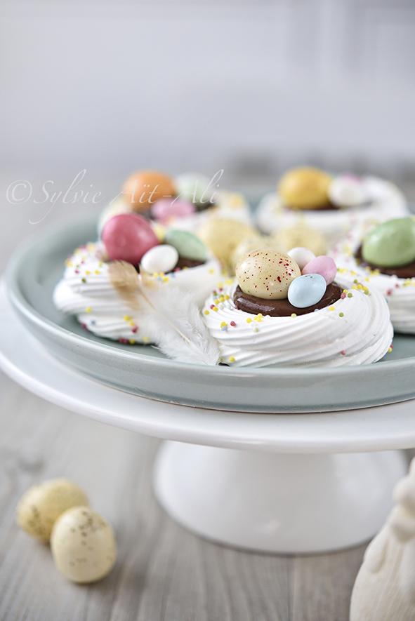 Belles recettes de Pâques : mini pavlova #pavlova #paques #easter #recette #cuisine #food