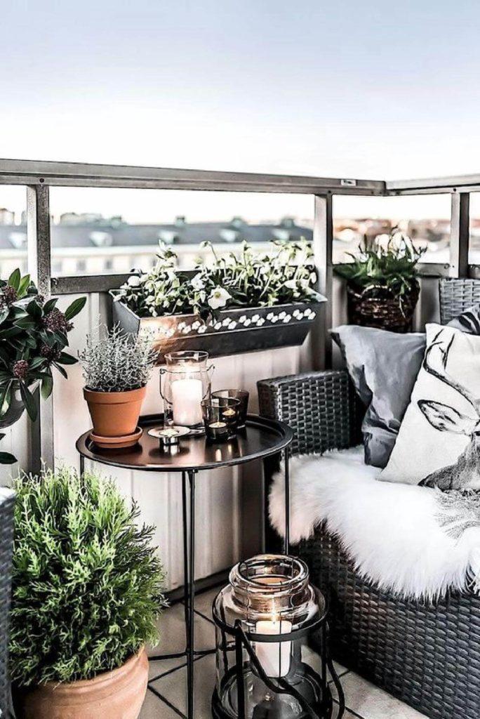 Décorer un balcon ou une petite terrasse