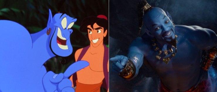 Aladdin, les personnages du film VS les personnages du dessin animé : le génie