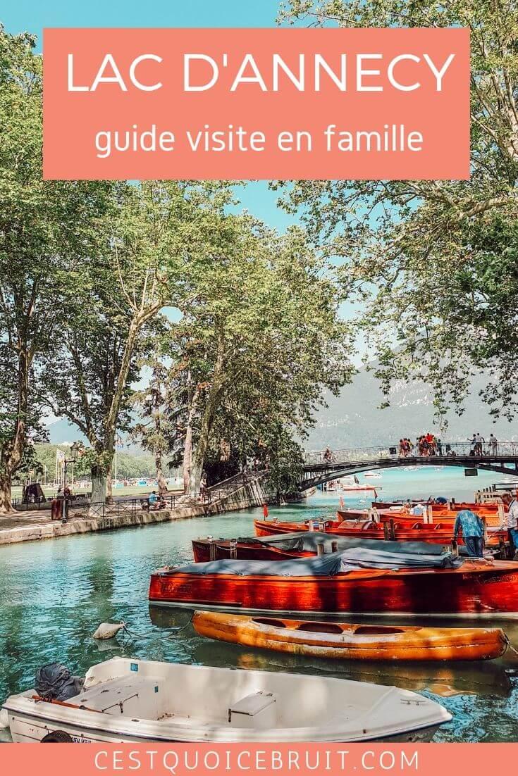 Visiter le Lac d'Annecy et ses environs avec des enfants, que faire à Annecy en famille ? #annecy #lac #voyageenFrance #France #voyage #travelwithkids