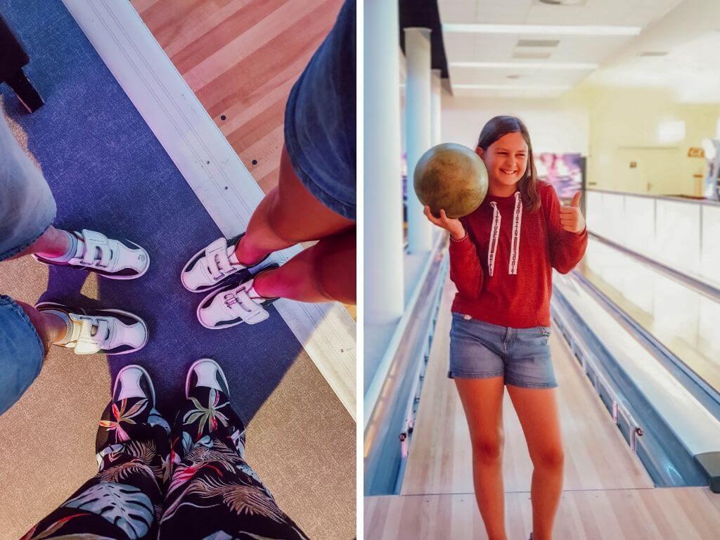 Activités familiales aux Saisies, jouer au bowling au Signal