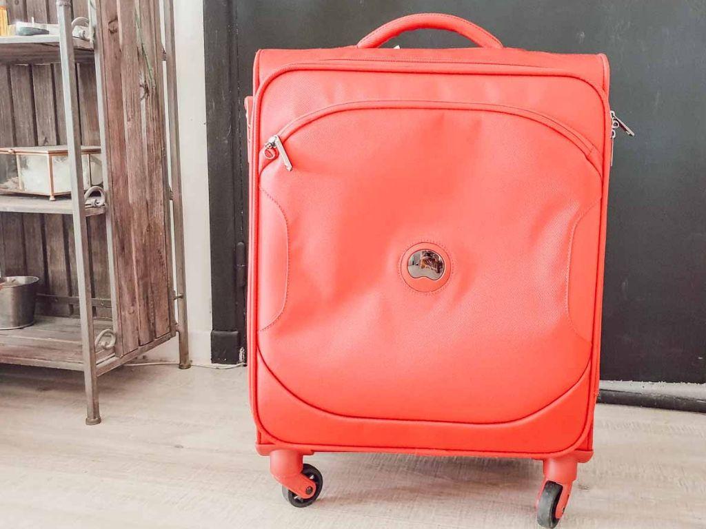 Mon bon plan pour mon bagage cabine moins cher : ma valise Delsey chez Zalando Privé