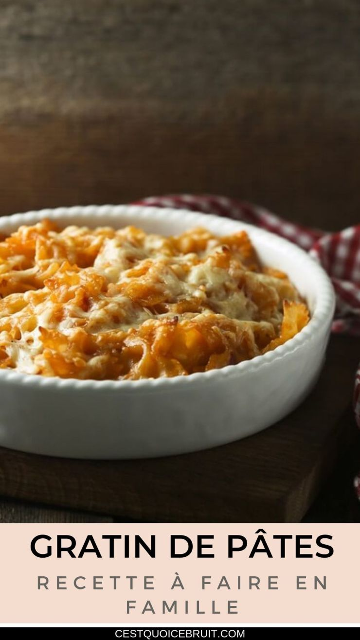 Recette de gratin de pâtes à faire en famille #gratin #pâtes #recette #recipe #food #pasta
