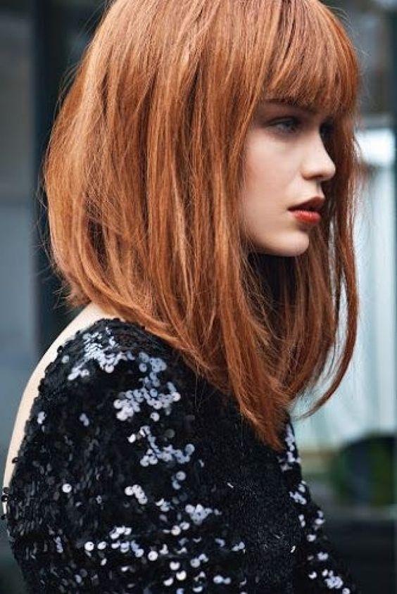 Carré plongeant long sur roux #roux #carré #ciffure #carréplongeant #cheveux #automne
