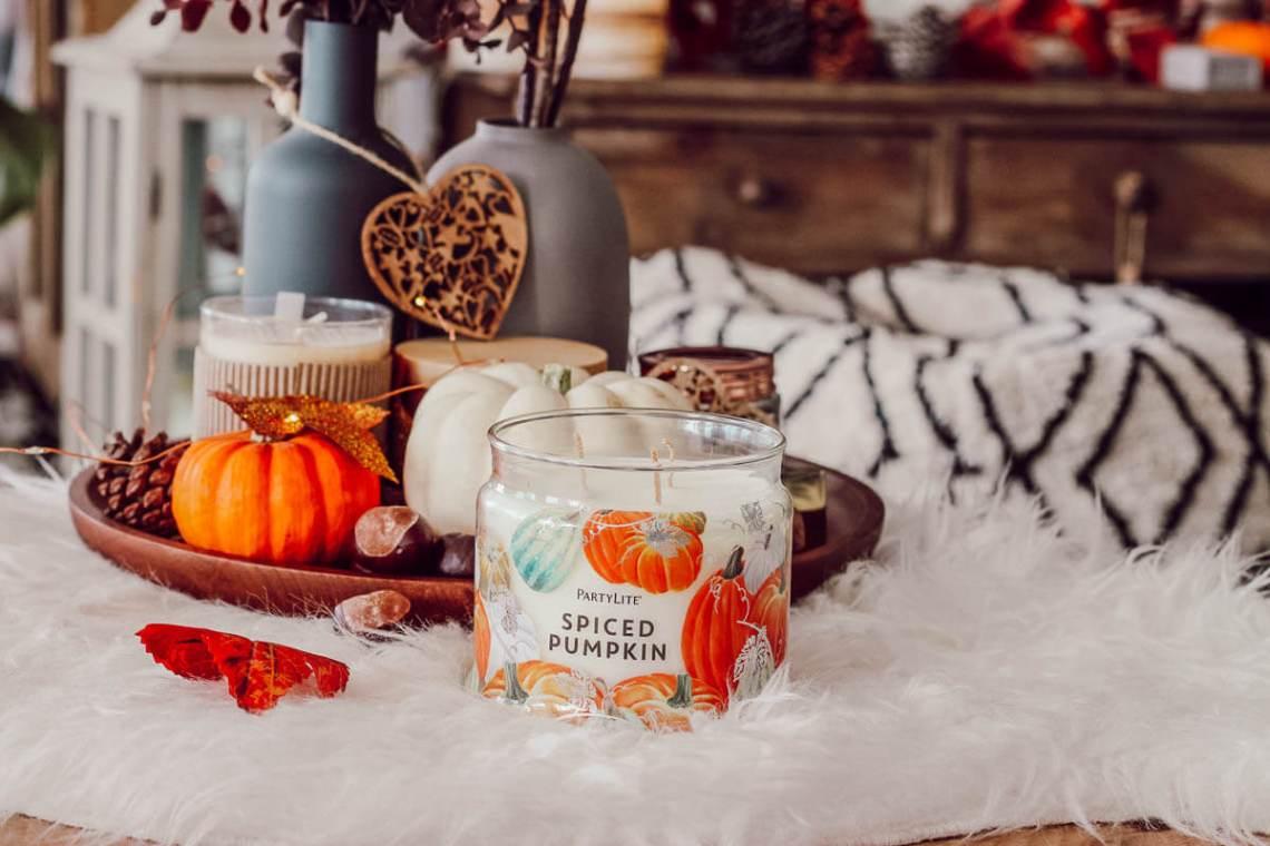 Bougie d'autome pour une ambiance cosy à la maison : la spiced pumpkin de Partylite