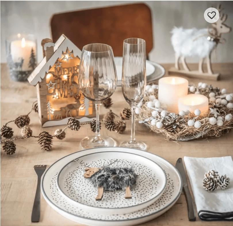 Décoration de table de Noël