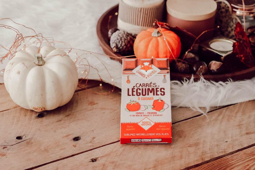 Idée cadeau made in France : Les tablettes Les carrés de légumes Carré Futé