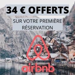 Coupon 34 € offerts sur votre réservation Airbnb