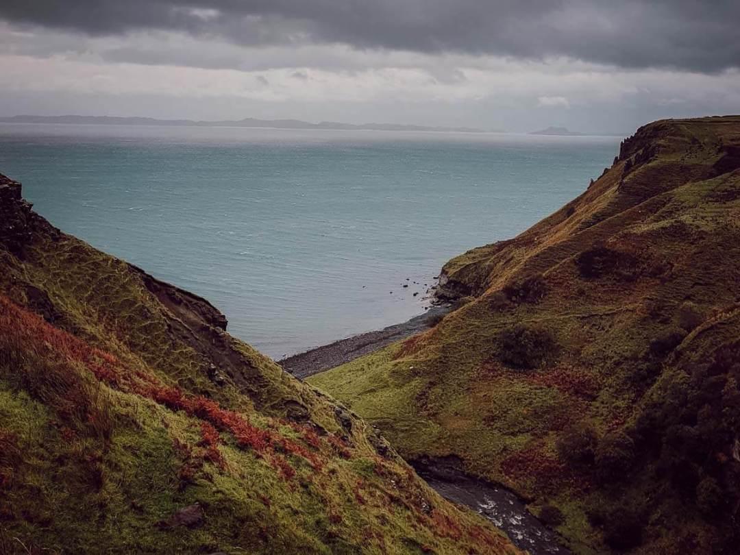 Vue de Lealt Falls sur l'ile de Skye, voyage en Ecosse