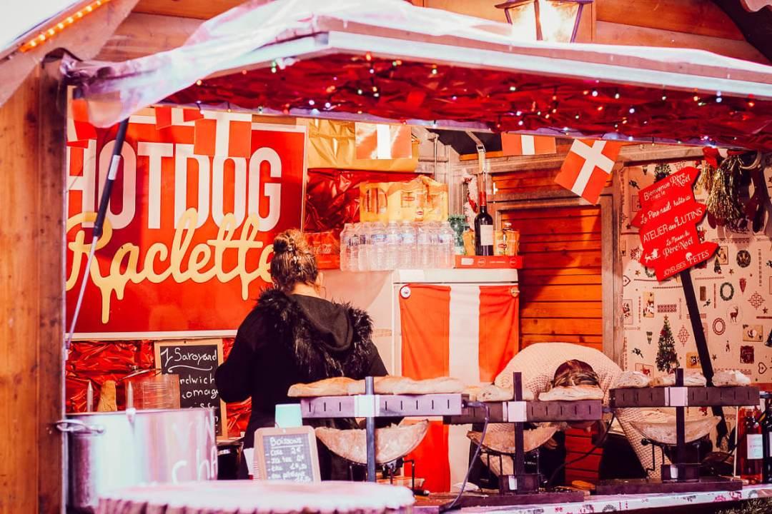 Stand du marché de Noël de Carcassonne