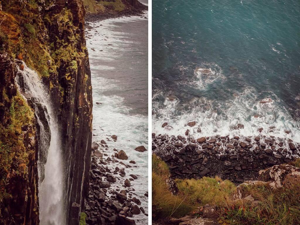 Kilt Rock, la cascade de l'île de Skye en Ecosse, un superbe point de vue à faire pendant un road-trip en Ecosse