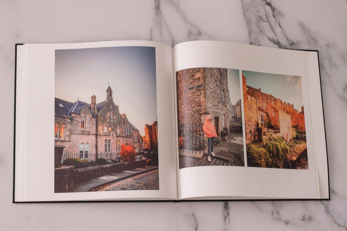 Le livre photo permet d'immortaliser ses souvenirs de voyage, comme notre séjour en Ecosse en famille.