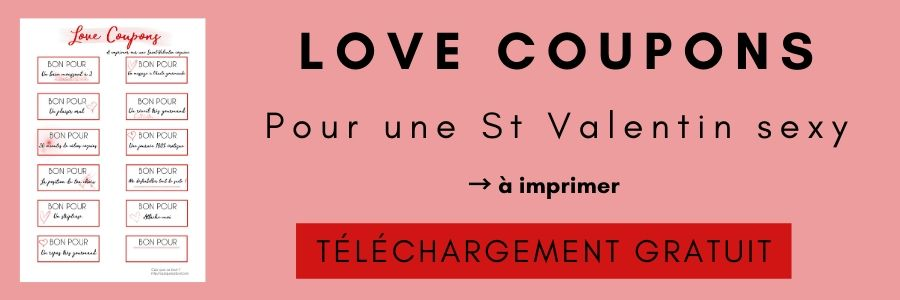LOVE COUPONS : les coupons de Saint Valentin à imprimer