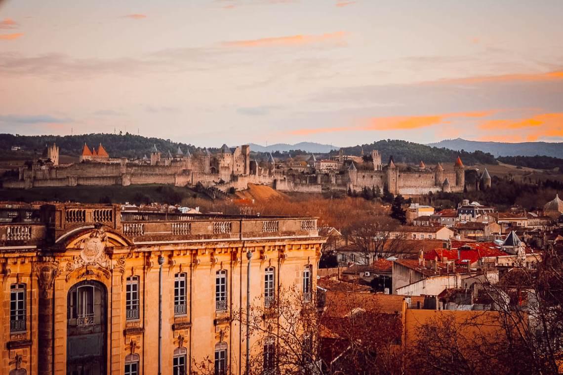 Vue de la cité de Carcassonne depuis la Grande Roue (blogtrip famille)