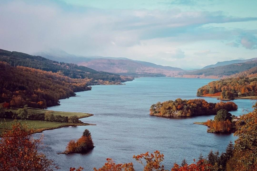 Panorama sur le Loch Tummel depuis la Queen's View, roadtrip en famille en Ecosse