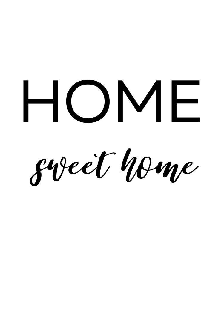 Affiche déco Home sweet home à imprimer