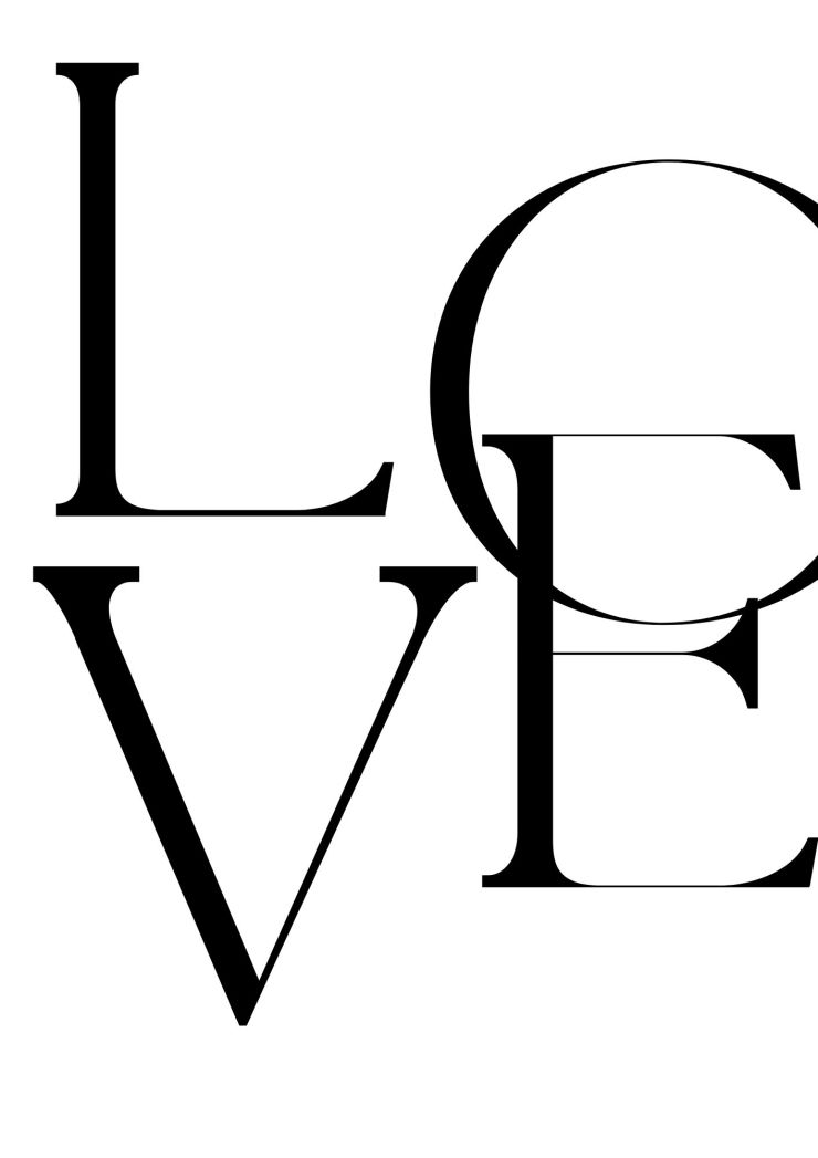 Affiche LOVE à imprimer gratuitement