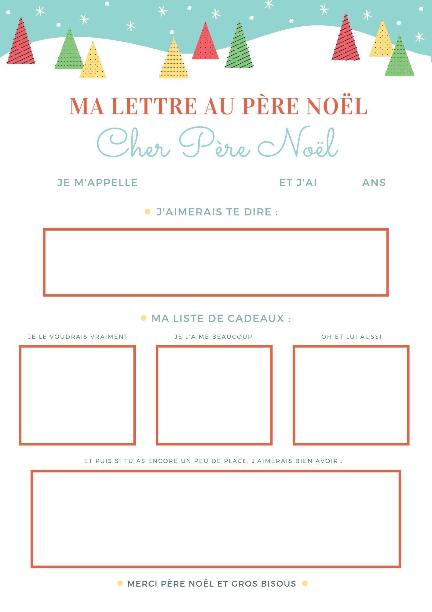 3 modèles de lettre au Père Noël