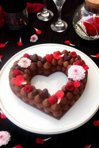 3 délicieux desserts à cuisiner pour la Saint Valentin : Gâteau cœur au chocolat