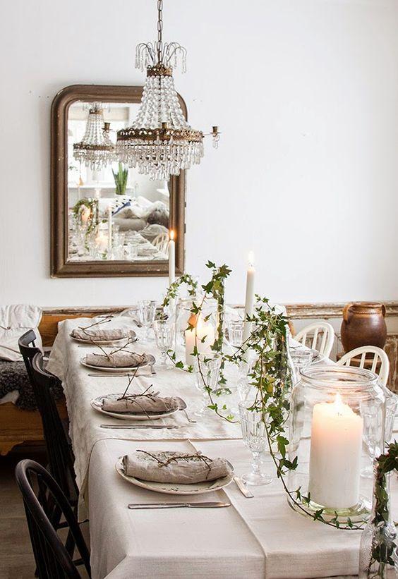 Table dressée pour recevoir ses amis