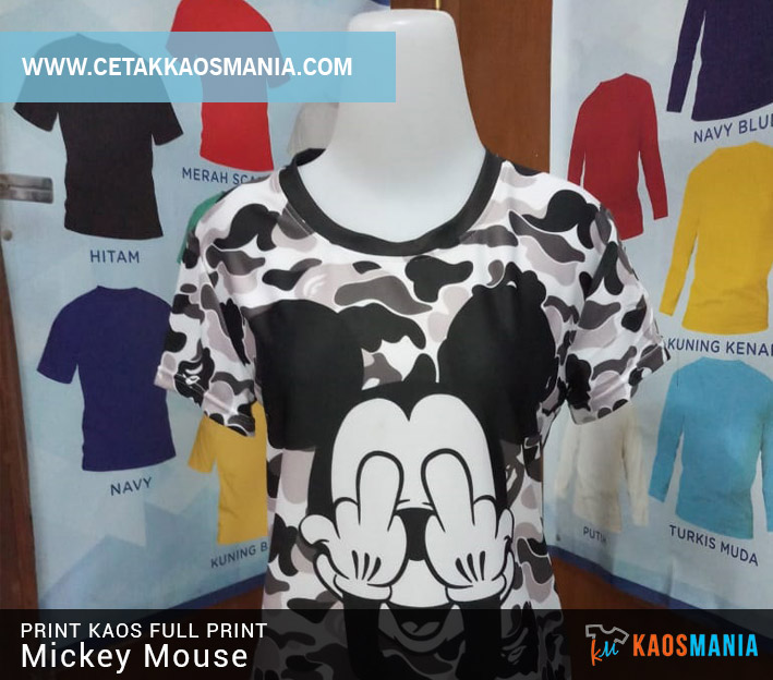 Kaos Fullprint Mickey Mouse