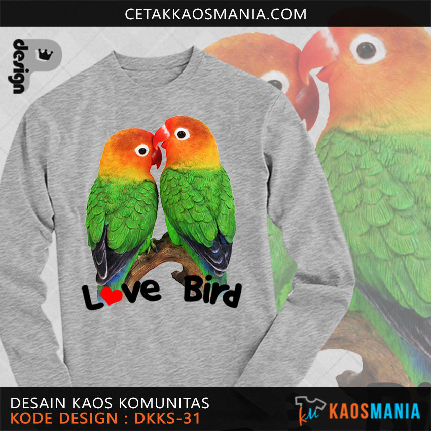 Kaos Burung Love Bird