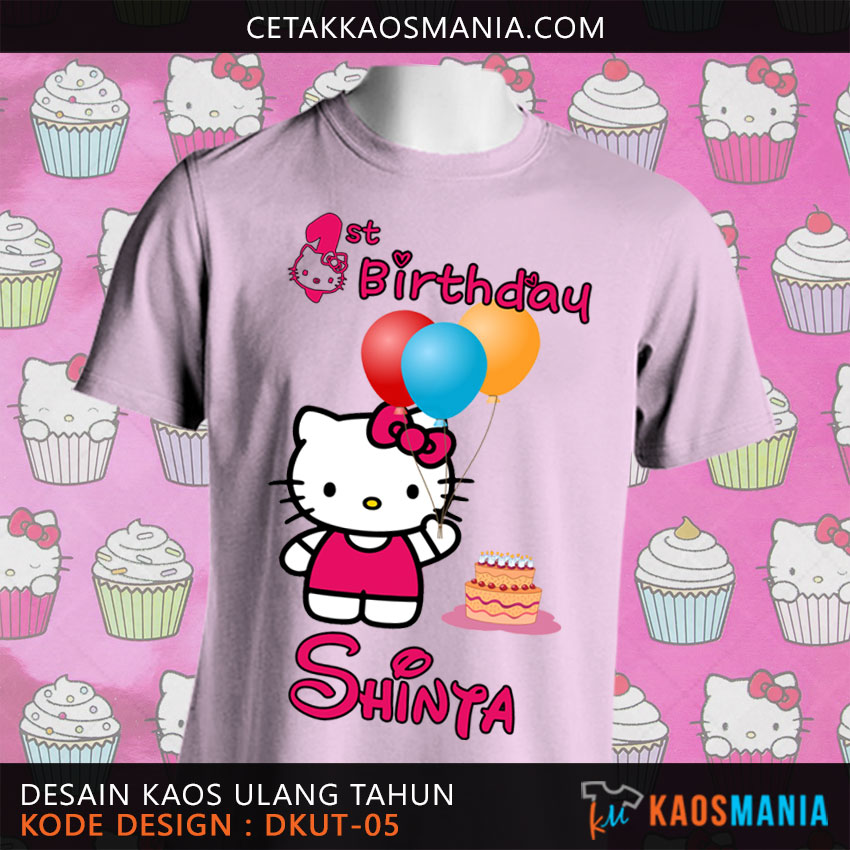 Kaos Ultah Hello Kitty