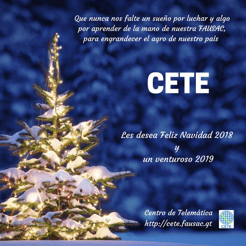 Feliz Navidad CETE 2018