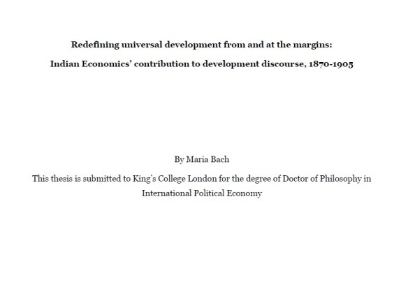 Dissertation economic thought