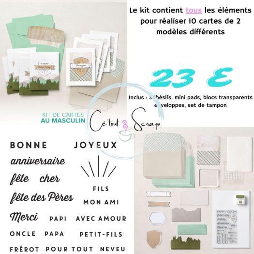 Collection de kit AU MASCULIN