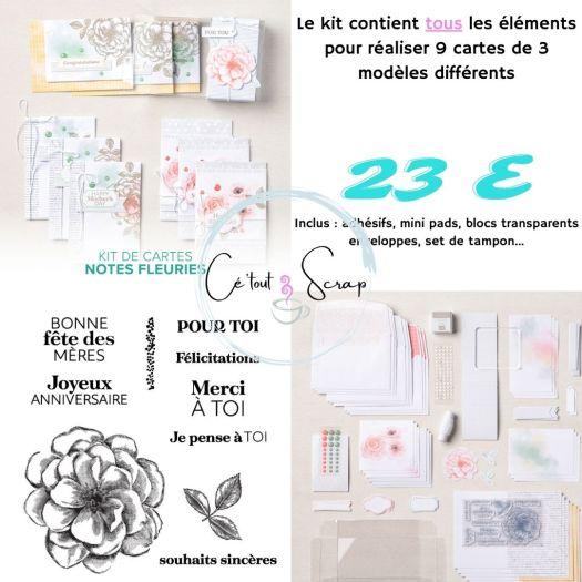Collection de kit NOTES FLEURIES