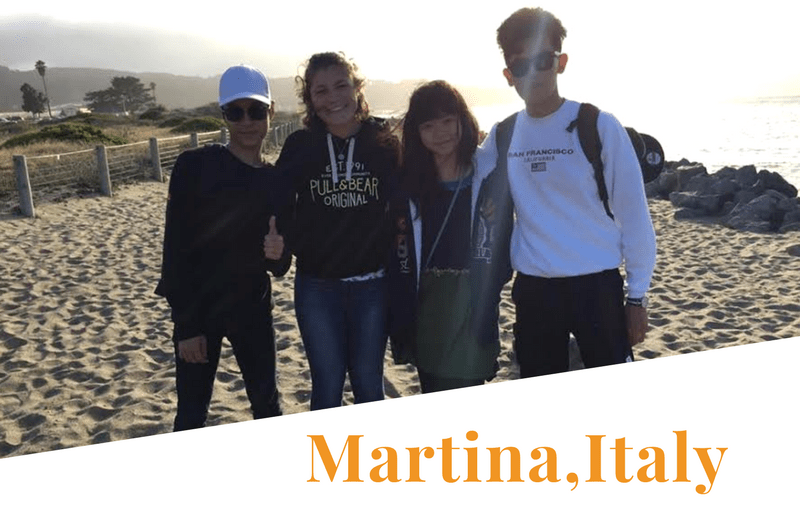 Martina with host family