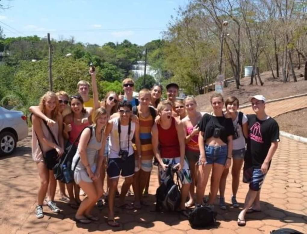 brazil Group of exchange students on a Brazilian street